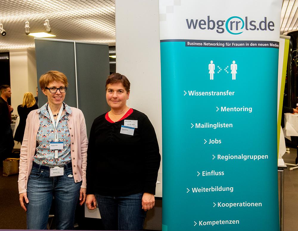 Webgrrls BW Infostand auf dem Netzwerktag